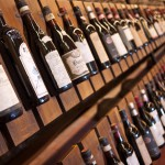 A line up of older BArolo wines at the official Barolo tasting Enoteca