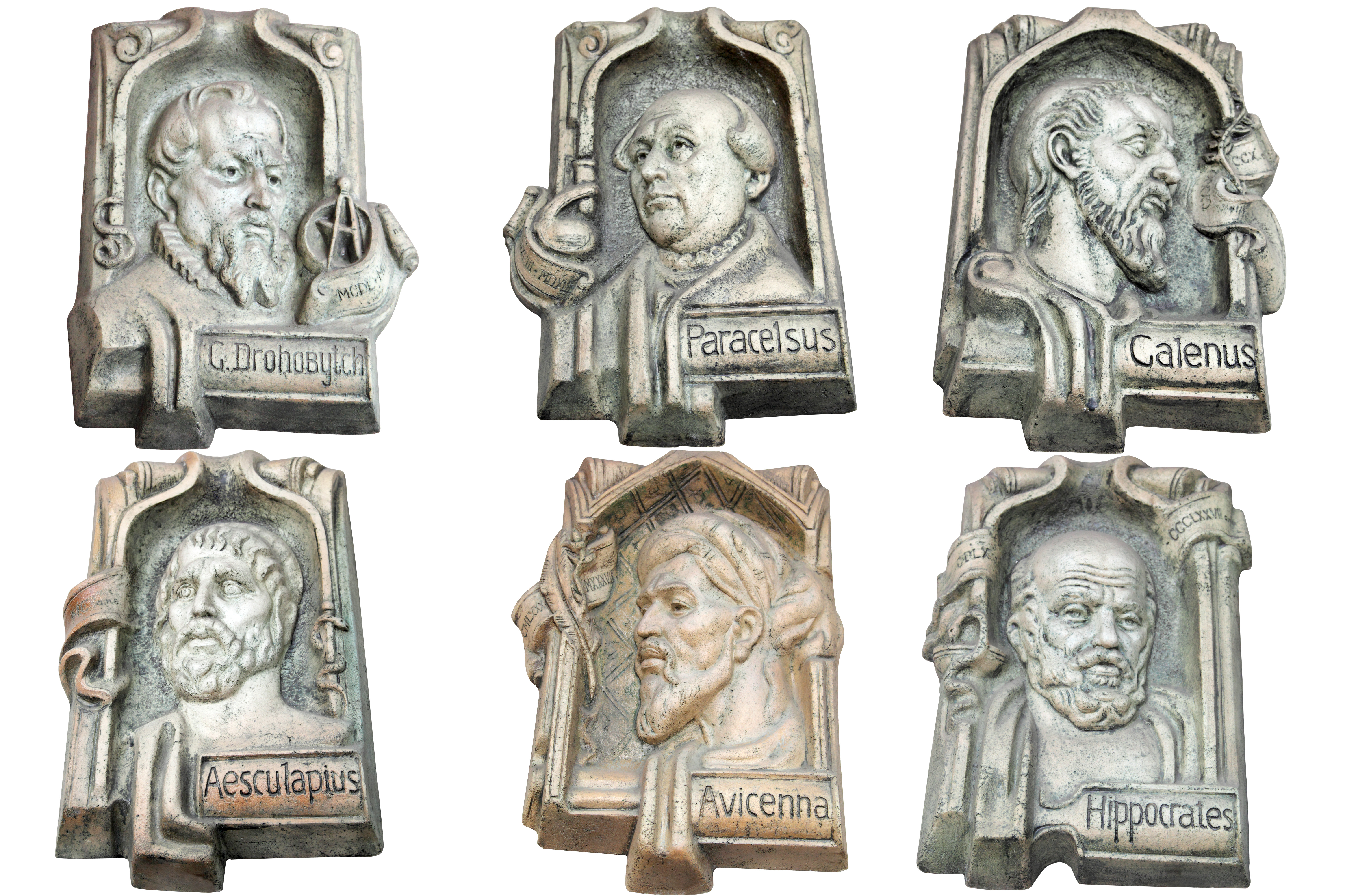 marble monuments of famous doctors of antiquity